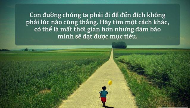 """Đôi khi bạn phải chọn """"đi đường vòng"""" mới có thể chạm đến ước mơ"""