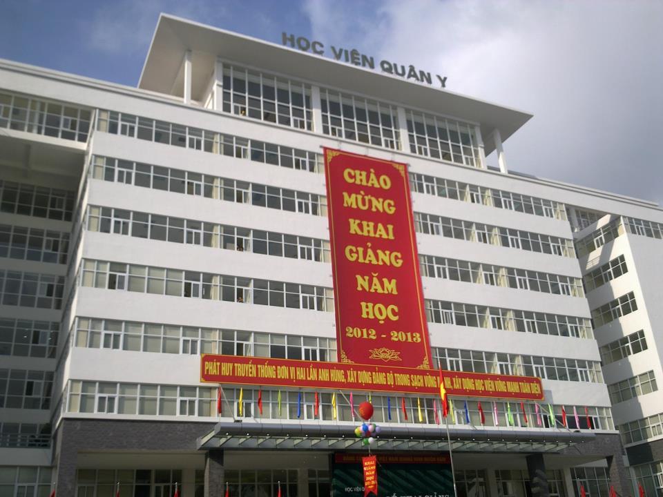 Trường Học viện Quân Y- điểm đến của nhiều thí sinh