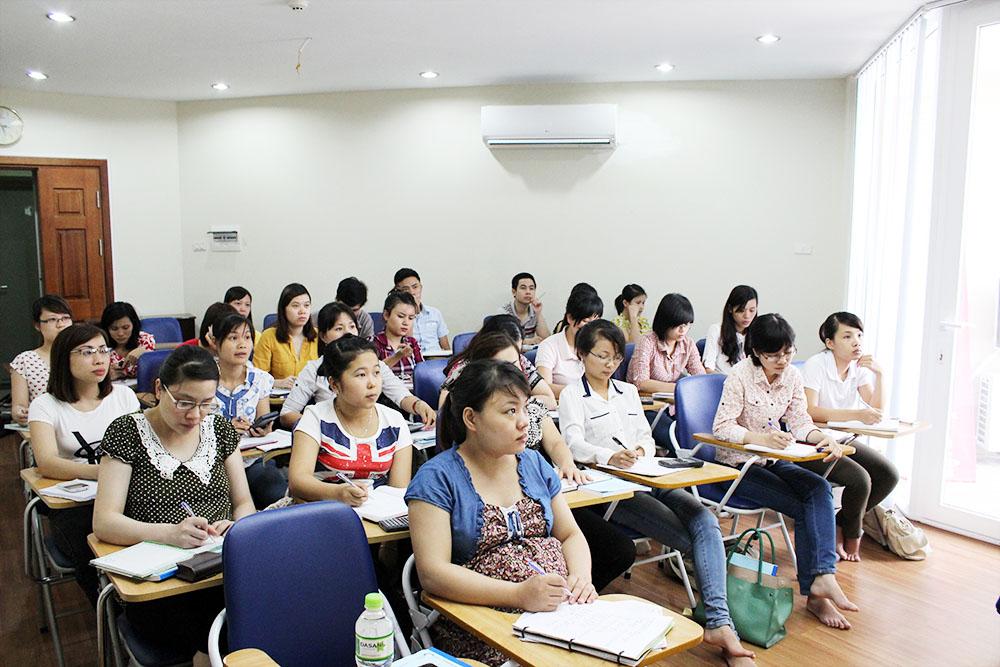 Hình ảnh luyện tiếng Nhật tại 1 trung tâm